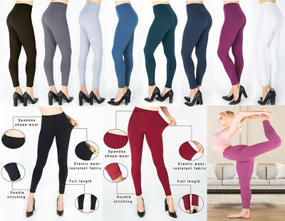 PLUS SIZE Womens Ladies Pencil Seamless Stretchy Full Length Leggings Office New • 6.99£