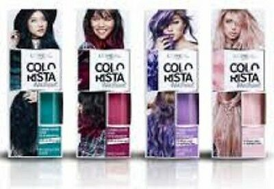 L'Oreal Paris Colorista Wash Out HOT PINK Hair Medium Wear 5 - 15 Washes 80ml • 4.95£