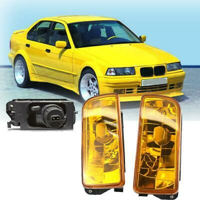 $30.99 • Buy Replacement Front Fog Lights Yellow Lens ABS+PV For 1992-1998 BMW E36 3 Series