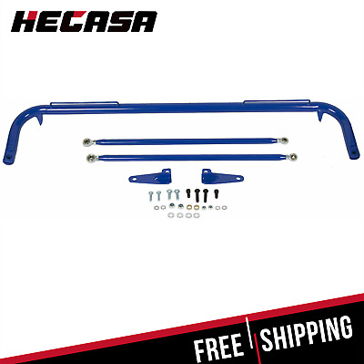 $75.80 • Buy Blue Stainless Steel Racing Safety Seat Belt Chassis Roll Harness Bar Kit Rod