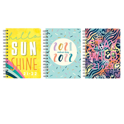 £3.49 • Buy 2021/2022 A5 Week To View Academic Diary PP Spiral Mid Year Student TeacherDiary