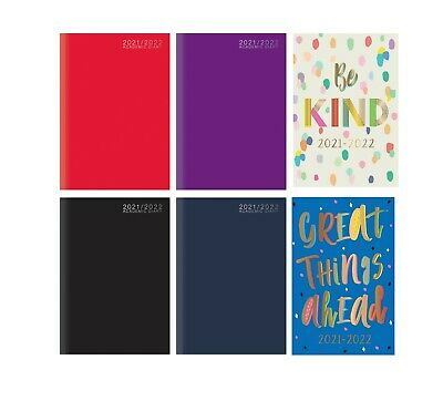 2020-2021 A5 Academic Diary Week To View HB Case Bound Mid Year Student Diary • 2.49£
