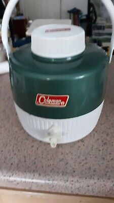 $20.50 • Buy Vintage 1982 Coleman 1 Gallon Metal Thermos Water Cooler Jug Complete  (Green)