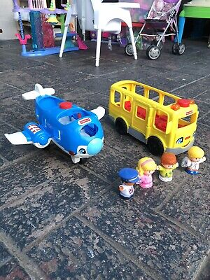 Fisher Price Little People Bus And Airplane • 5£