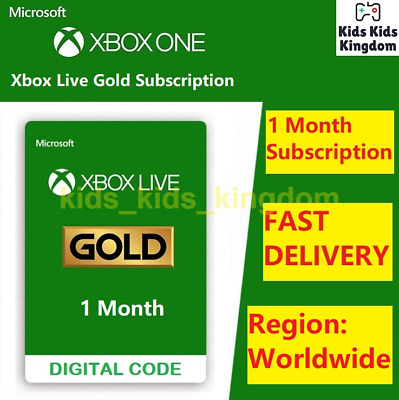 $ CDN13.64 • Buy Xbox Live Gold 1 Month Membership Code - Xbox One / Xbox 360 - INSTANT Delivery