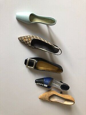 Miniature Collectable Shoes X 5! Just The Right Shoe  Great Condition Authentic • 9.50£