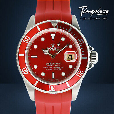 $ CDN11558.99 • Buy Rolex Watch Mens 40mm Stainless Steel Submariner 16610 Red Dial & Insert
