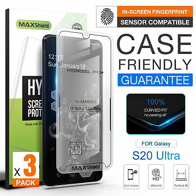 AU9.95 • Buy 3X GALAXY S20 Plus Ultra, MAXSHIELD Hydrogel CaseFriendly Film Screen Protector