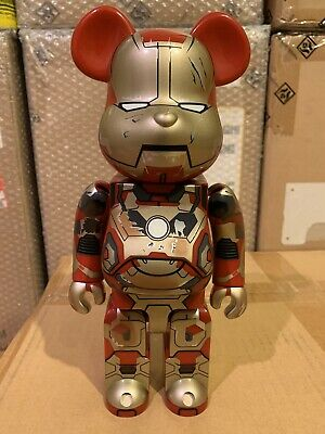 $385 • Buy Medicom Be@rbrick 2013 Marvel Iron Man 3 400% Mark XLII 42 Damaged Ver Bearbrick