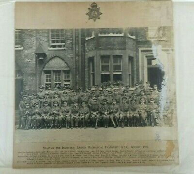 Ww1 Military Old Group Photograph Named Posrcard Medal Sword Helmet Book Asc • 3£