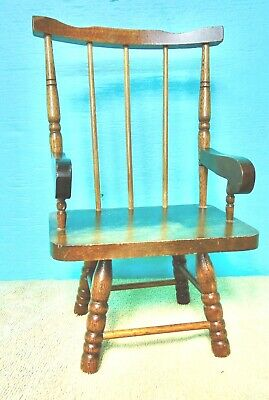 $16 • Buy Doll Furniture Wooden Chair Spindle Back Medium Oak Finish
