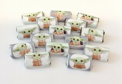 $18 • Buy 50 Baby Yoda Mini Candy Bar Wrappers For Party Favors Small Gifts