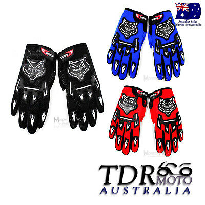 AU7.64 • Buy Adult Mens Womens MX MOTOCROSS MOTORBIKE RACING GLOVES BMX/ATV/QUAD/DIRT BIKE AU