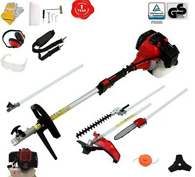 View Details 52 Cc Multi Function 5 In 1 Garden Tool BrushCutter,Grass Trimmer,Chainsaw,Hedge • 139.99£