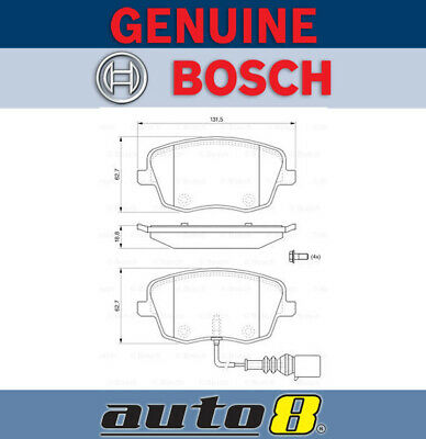 AU104.95 • Buy Bosch Front Brake Pads For Volkswagen Polo 9N3 1.6L Petrol BTS 2006 - 2009