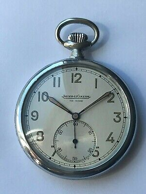 Jaeger Le-Coultre WW2 1941Military  Pocket Watch FULLY Serviced • 1,000£