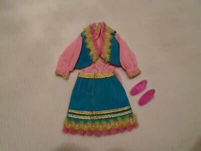 $ CDN22 • Buy Vintage 1970 Barbie Doll Clothes  Gypsy Spirit  Outfit #1458 Complete