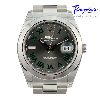 $ CDN12340.77 • Buy Unworn Rolex Watch Factory Stainless Steel Datejust 126300 41mm Wimbledon Dial