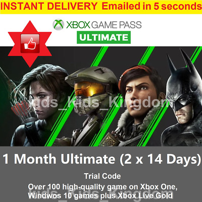 $1.59 • Buy Xbox Ultimate Game Pass - 14 Day Xbox Live Gold + Game Pass Instant Dispatch