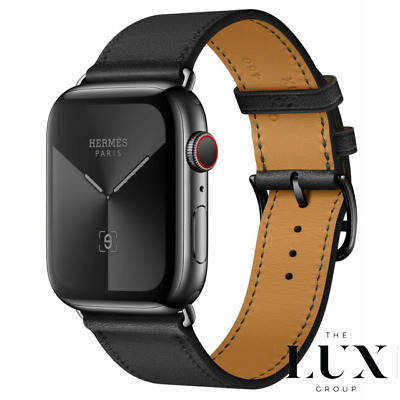 AU800.43 • Buy New Hermès Hermes 38mm Space Black Noir Single Tour BAND ONLY For Apple Watch