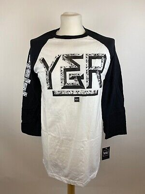 Young & Reckless Mens 3/4 Sleeve Top Size Large • 28£