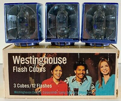 $8.79 • Buy Vintage NEW OLD STOCK Westinghouse FLASH CUBES 3 Cubes Per Pack FREE SHIPPING!