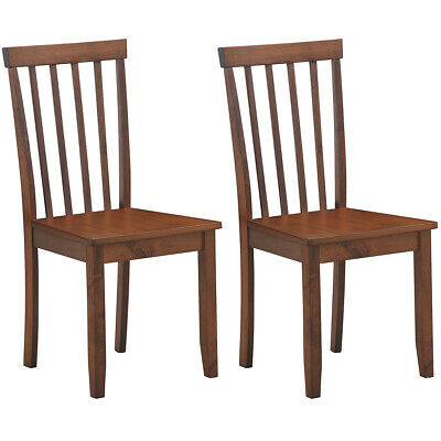 $109.99 • Buy Set Of 2 Dining Chair Kitchen Spindle Back Side Chair With Solid Wooden Legs