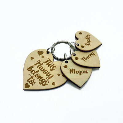 Personalised Gift Heart Keyring This Mummy, Auntie, Nanny, Granny Belongs To:  • 6.45£