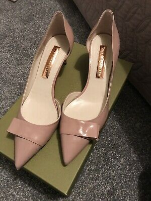 Rupert Sanderson Parasol Chic Nude Patent Court Shoe BRAND NEW IN BOX Size 39 • 75£