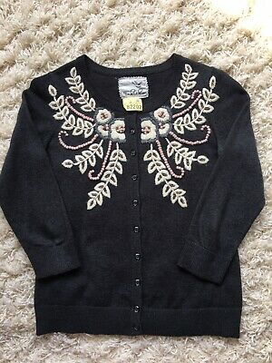 $ CDN15.89 • Buy Anthropologie Tabitha Cardigan Small Beaded Embroidered