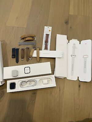 $ CDN662.82 • Buy Apple Watch Series 4 40 Mm Stainless Steel Case With White Sport Band (GPS +...