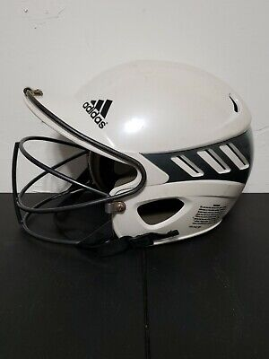 $28.99 • Buy Adidas Softball Helmet URS 600 White Size 56-60 Cm LG Clima Cool With Face Guard