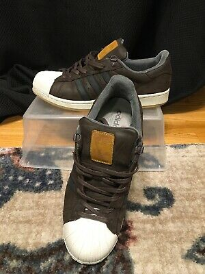 $ CDN39.76 • Buy Adidas Mens Superstar Trainer Leather Shoes Dark Brown/Black S82214 Size 10