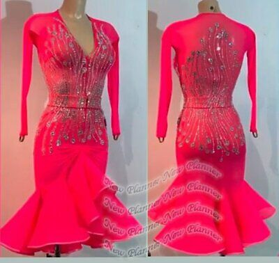 £330.59 • Buy L2111 Women Competition Specialty Latin/Rhythm Rumba Dress UK 10 US 8 Red