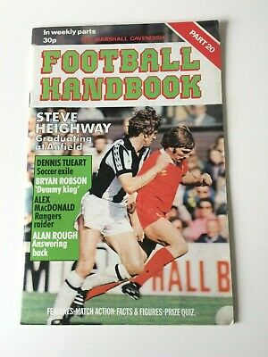 The Marshal Cavendish Football Handbook Part 20 • 3.50£