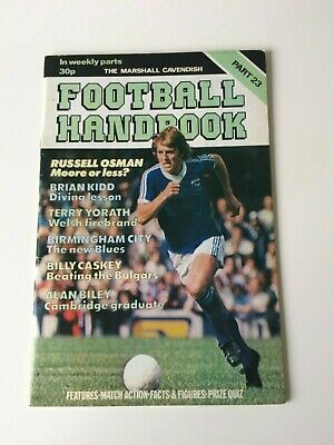 The Marshal Cavendish Football Handbook Part 23 • 3.50£