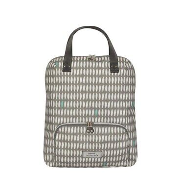 Earth Squared Grey Oval Print Oil Cloth Backpack • 35£