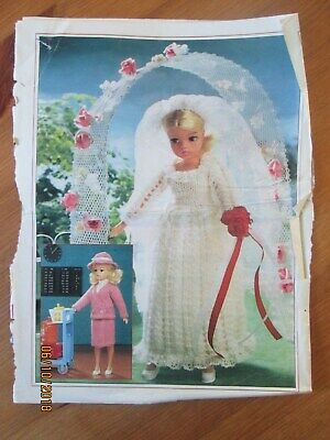 Knitting Pattern Wedding Dress And Going Away Outfit  For Sindy Doll  • 1£