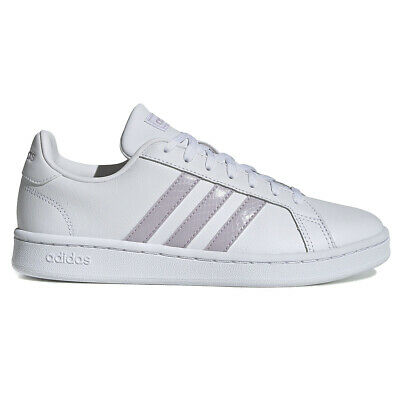 $ CDN64.99 • Buy Adidas Women's Grand Court Cloud White/Mauve/Grey Two Shoes EE7465 NEW