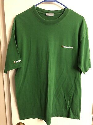 (L@@K) Heineken Beer Green Star Mens T Shirt Size M Holland • 11.88£