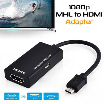 $ CDN9.73 • Buy Mini MHL Micro USB To HDMI Cable Adapter 1080P HD TV For Samsung Android Phone