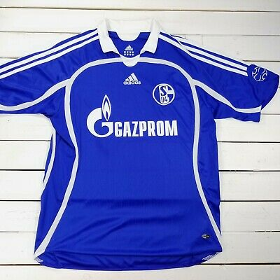 $22.91 • Buy Adidas FC Schalke Soccer Futbol Home Jersey Youth XL 2007-2008 Short Sleeve T125