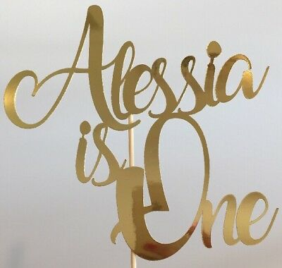 AU15.50 • Buy Personalised Custom Party Cake Topper 1st Birthday One 1 Add Your Name And Age
