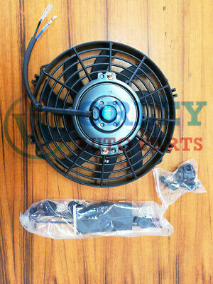 AU34.50 • Buy Universal 9 Inch 12V Volt Electric Cooling Fan Thermo Fan + Mounting Kits