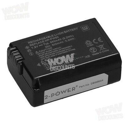 2-Power NP-FW50 Camera Battery DBI9954A • 16.98£