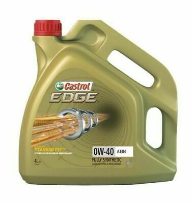 Castrol Edge 0W40 FST A3/B4 Synthetic Engine Oil 4 Litres 4L • 40.70£