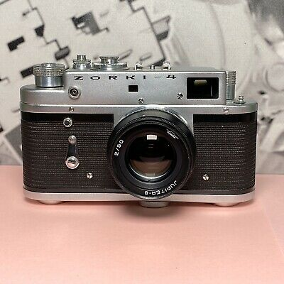 Zorki 4 Rangefinder Vintage Camera 1970s With Jupiter 8 Lens Retro Lomo, Working • 65£