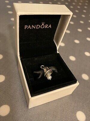 BN Brand New In Box Genuine Silver & Pearl Wedding Bell Pandora Charm • 4.99£