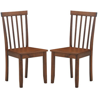$109.79 • Buy Set Of 2 Dining Chairs Kitchen Spindle Back Side Chair W/Solid Wooden Legs Home