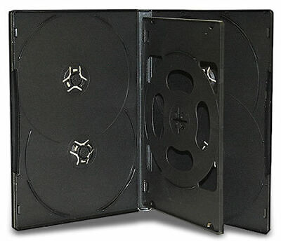 AU984.95 • Buy 100x Sextuple Hold 6 Black DVD CD Cover Cases 14mm - Holds 6 Discs